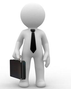 Imagen de un mu eco con corbata y malet n - Back office roles and responsibilities ...